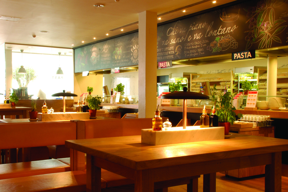 Vapiano London Restaurant & Bar Fit outs Projects